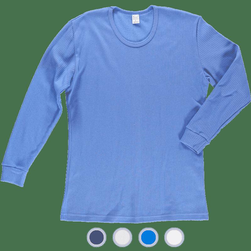 podkoszulka błękit prążek bawełniane ewax