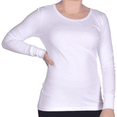 podkoszulka damska z długim rękawem biała
