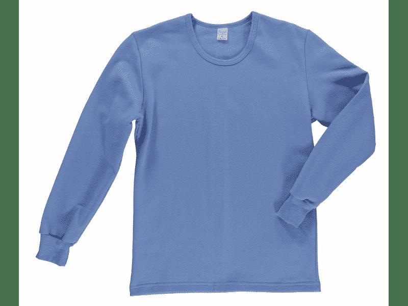podkoszulka z długim rękawem niebieska dresowa